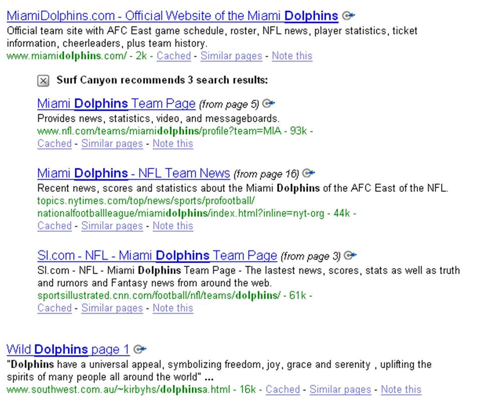 Recommended search results for MiamiDolphins.com