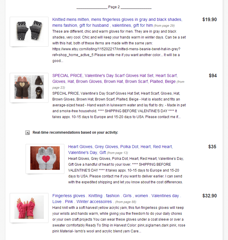 Etsy search page 2